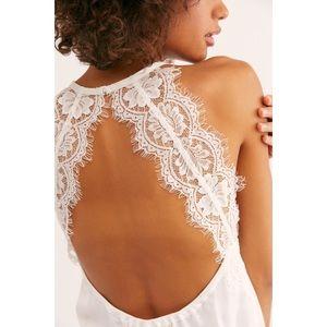 Free People Melrose Bodysuit White